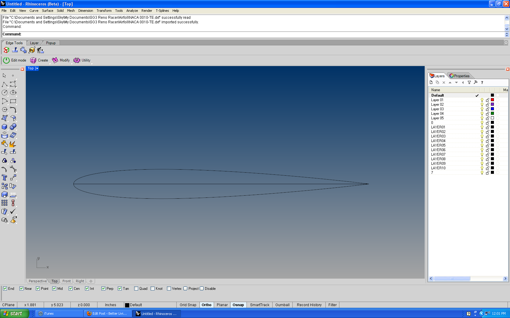 A Better Way to Draw Airfoils in NURBS Modeling Packages