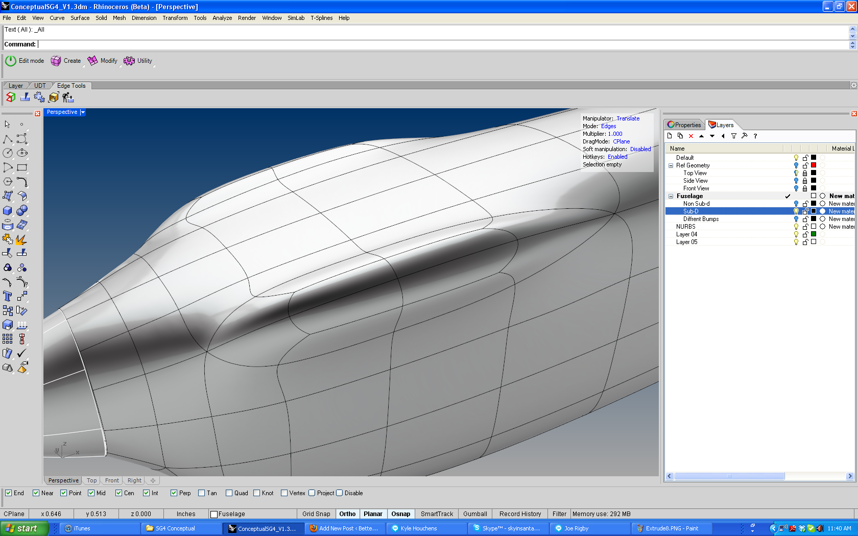 T-Splines Tip – Two Ways to Extrude   Better Living Through CNC
